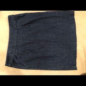 J.Crew dark denim stretch pencil skirt